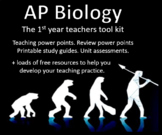 AP Biology,  Units 1 - 8. teaching lessons, study guides, review ppt, and tests