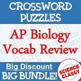 AP Biology Review Crossword Puzzle Bundle