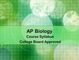 AP Biology Syllabus