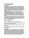 AP Biology Syllabus- 2013