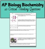 AP Biology Unit 1 Macromolecule/Biochemistry Critical Thin