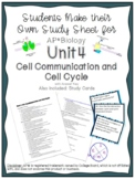 AP Biology Unit 4 Cell Communication and Cell Cycle Study
