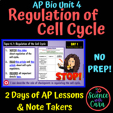 AP Biology Unit 4 Regulation of Cell Cycle Lessons & Note Takers - NO PREP