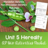 AP Biology Unit 5: Heredity Activities Packet