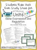 AP Biology Unit 6 Gene Expression and Regulation Study She