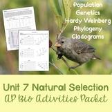AP Biology Unit 7: Natural Selection Activities Packet