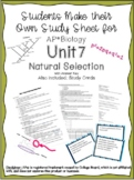AP Biology Unit 7 Natural Selection and Study Cards