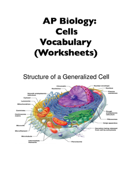 AP Biology Vocabulary: Cells Section (Worksheets, Word Walls)