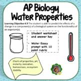 AP Biology Water Properties Review Worksheet and Essay