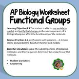 AP Biology Worksheet, Functional Groups