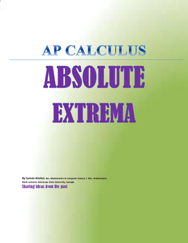 AP CALCULUS: ABSOLUTE EXTREMA VALUES OF F(X)