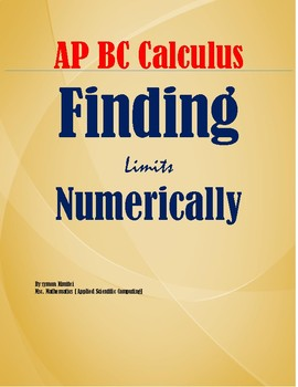 FINDING LIMITS NUMERICALLY