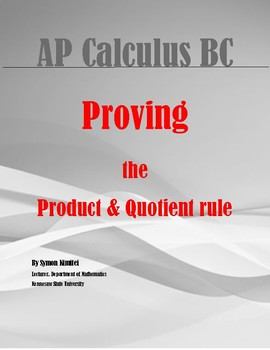 PROOFS: PRODUCT AND QUOTIENT RULE