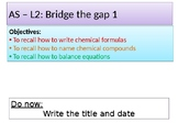 AP CHEMISTRY INTRO TO 11th grade CHEMISTRY + BRIDGING THE GAP (ANSWERS)checklist