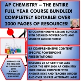 AP CHEMISTRY - THE ENTIRE FULL YEAR COURSE BUNDLE! OVER 1500 PAGES!