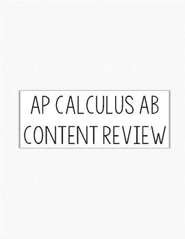 AP Calc AB Content Review