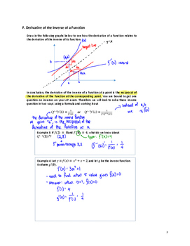 AP Calculus: 04 - Derivatives II - Teacher