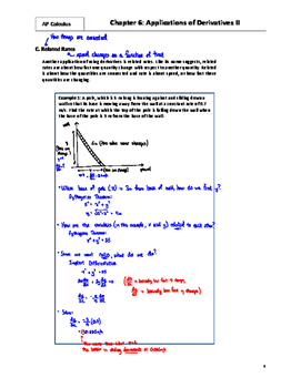 AP Calculus: 06 - Applications of Derivatives II - Teacher