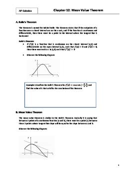 AP Calculus: 12 - Mean Value Theorem