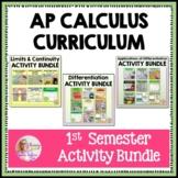 AP Calculus 1st Semester Activities Bundle (Units 1 - 5)