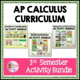 AP Calculus 1st Semester Activities Bundle (Units 1 - 5)