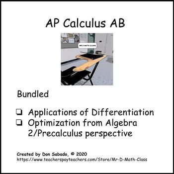 AP Calculus AB - Applications of Derivatives (Bundled)