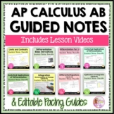AP Calculus AB Guided Notes & Lesson Videos