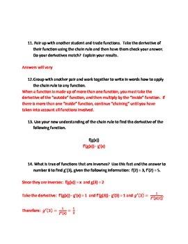 AP Calculus AB - Chain Rule Investigation