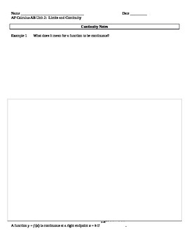 AP Calculus AB: Continuity Notes