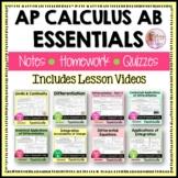 AP Calculus AB Essentials Bundle with Lesson Videos
