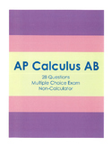 AP Calculus AB Multiple Choice Exam (28 non-calculator problems)