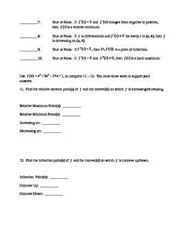 AP Calculus AB: Quiz Derivative Applications in the Math World