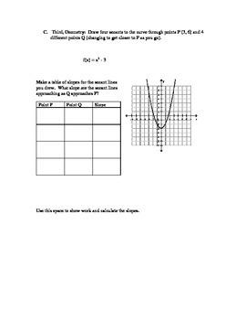 AP Calculus AB, Rates of Change Investigation