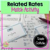 Calculus Related Rates Sort & Match Activity (Unit 4)