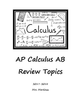 AP Calculus AB Review Booklet