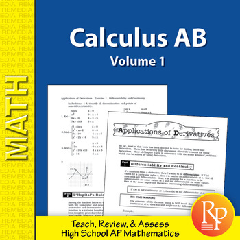 AP Calculus AB: Straight Forward Math Volume 1