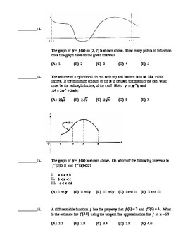 AP Calculus AB: Unit Exam Derivative Applications