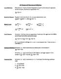 AP Calculus AB: Theorems and Defintions Summary