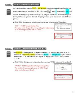 AP Calculus AB - Unit 4 Guided Practice/Lecture Notes (PDF)