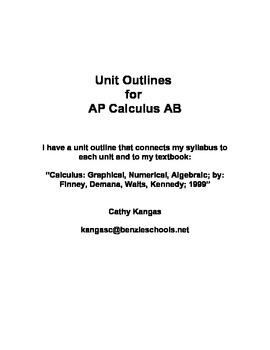 AP Calculus AB - Unit Outlines - Scott Foresman Addison Wesley