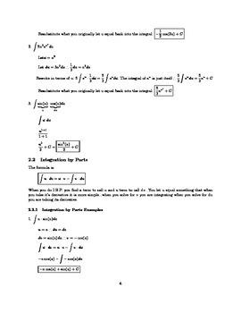 AP Calculus AB or BC Integral Notes