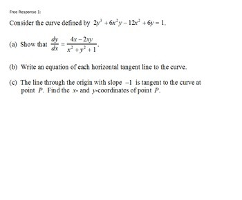 AP Calculus - AP Practice Implicit Differentiation PowerPoint presentation