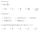 AP Calculus - AP Practice Natural Log and Exponentials PowerPoint presentation