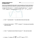 AP Calculus Applications of Differentiation Unit Free Resp