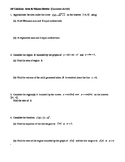 AP Calculus Area Volume Review worksheet