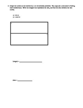 AP Calculus: Area & Volume Test