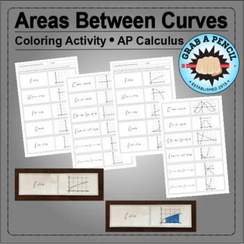 AP Calculus: Areas Between Curves Coloring Activity