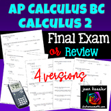AP Calculus BC or Calculus 2 Final Exam Study Guide Practice Test