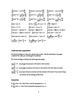AP Calculus BC Quick Review Notes and Outline