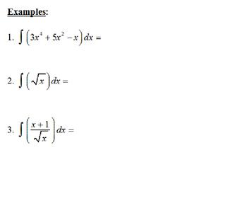 AP Calculus Basic Integration Review  Power Point presentation